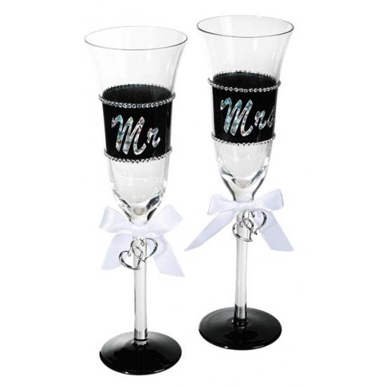 Onwijs Bruidspaar champagneglazen 2st. - bij Fun en Feest snel en GM-68
